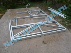 Сборка каркаса металлического гаража из легких стальных конструкций
