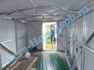 Внутренняя отделка металлического гаража