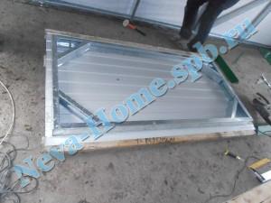 Дверца в гараже - сборка из металлопрофиля и профлиста