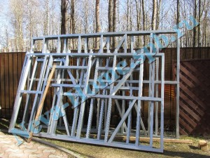 Каркас из ЛСТК для дачной постройки