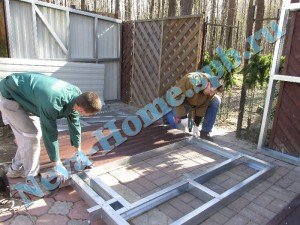 Монтаж каркасного хозблока - мастерской для дачи, для хранения инструмента