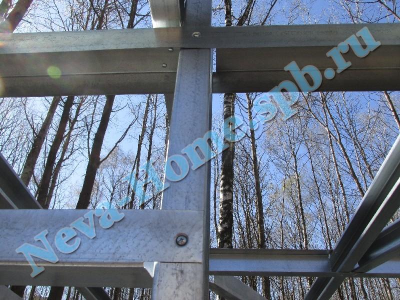 Каркас хозблока для дачи (металлический, оцинкованная сталь)