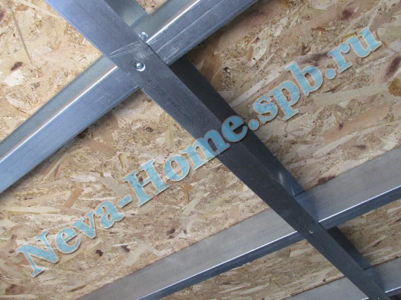 Обшивка крыши хозблока плитами OSB + металлочерепица