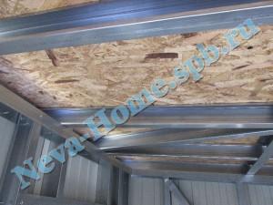 Внутренняя обшивка гаража плитами OSB