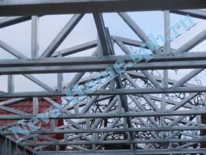 Конструкция гаража из ЛСТК