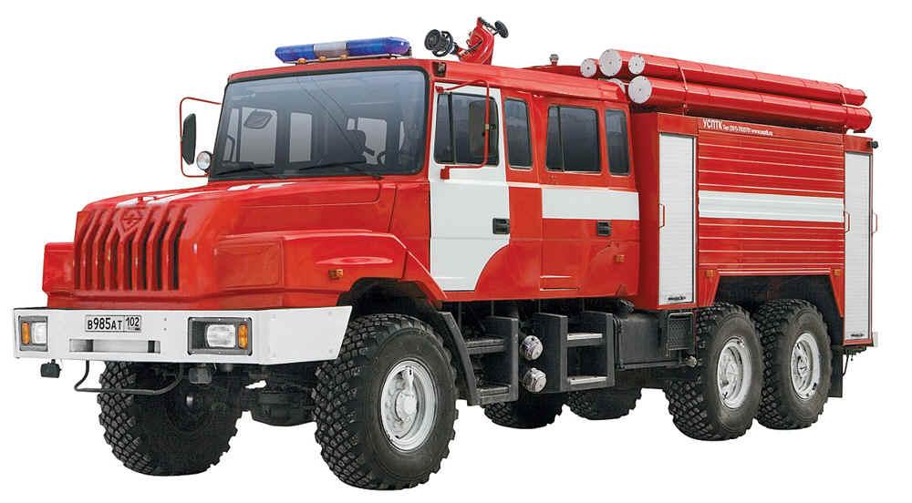 Гараж для пожарных машин